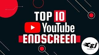 Top 10 YouTube End screen/Outro Template FREE DOWNLOAD 2021