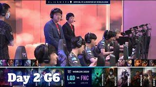 LGD vs FNC | Day 2 Group C S10 LoL Worlds 2020 | LGD Gaming vs Fnatic - Groups full game