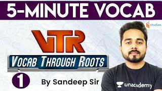 6:45 AM - English Vocabulary With Root Words | Vocab Through Roots | 5 Minute Vocab | By Sandeep Sir