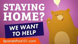 Staying Home? Learn Spanish for Free at SpanishPod101