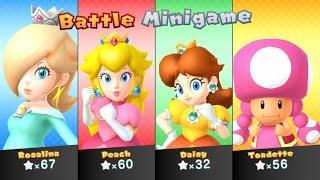 Mario Party 10 - Rosalina vs Peach vs Daisy vs Toadette - Whimsical Waters