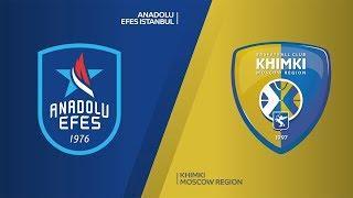Anadolu Efes Istanbul - Khimki Moscow Region Highlights | EuroLeague, RS Round 17