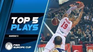 Top 5 Plays | Gameday 5 | Second Round | FIBA Europe Cup 2019-20