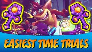 Top 10 EASIEST TIME TRIALS in Crash Bandicoot 4: It's About Time