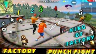 FREE FIRE FACTORY FIGHT BOOYAH 22 - FF FIST FIGHT ON FACTORY ROOF - GARENA FREE FIRE - FF FIST KING