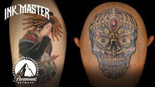 Best Tattoos of Ink Master (Season 5) | Head Tattoos