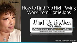 How to Find Top Paying Work From Home Jobs 2020 #WorkFromHome #MakeMoneyOnline #OnlineJob #COVID19