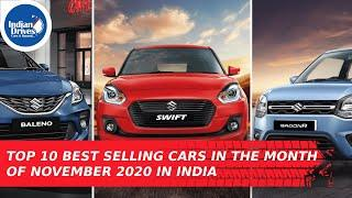 Top 10 Best Selling Cars In The Month Of November 2020 In India