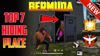 Top 7 hiding places in free fire Bermuda map
