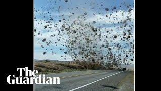 'Tumbleweed tornado' filmed in Washington state