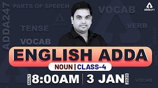 Noun in English Grammar & Vocabulary Words English Learn || ENGLISH ADDA || (Class 4)
