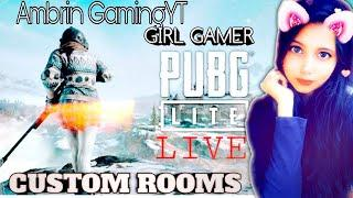 PUBG MOBILE LITE GIRL LIVE||RUSH GAMEPLAY ||CUSTOM ROOMS ROAD TO 6K@pubglite @pubgmobilelite