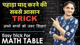 Math Table Tricks in Hindi I Math Table Learning Trick l Maths Table Tricks l Ankita Madam