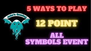 5 x Sequences for Coin Masters 12 Point All Symbols Event