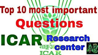 I.C.A.R top 10 most important questions of research institute/ Episode -1 important question series