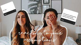 Reacting to Your Assumptions About Our Relationship! | Lesbian Couple | Allie and Sam