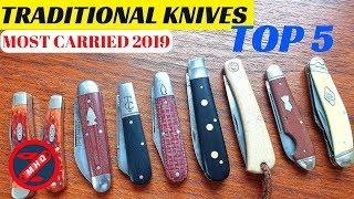Dirty Steel, My Top 5 Most Carried Traditional Pocket Knives 2019