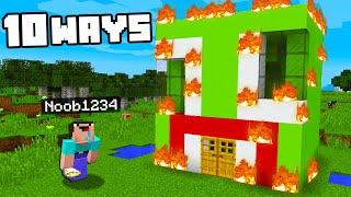 Top 10 Ways to PRANK Unspeakable's House! (Preston Minecraft)