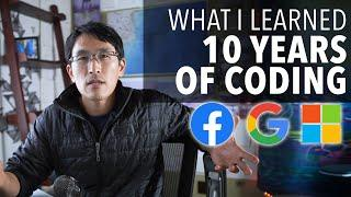 Top lessons from 10 years of coding (as a software engineer)