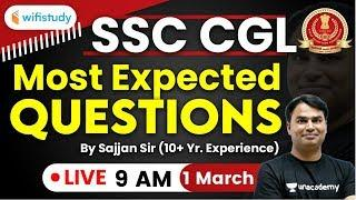 SSC CGL 2019 | Maths by Sajjan Sir | Most Expected Questions