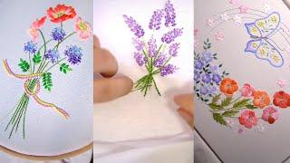 Top 10 Amazing DIY Ideas - Amazing Hand Embroidery Tricks: Flowers and Leaves