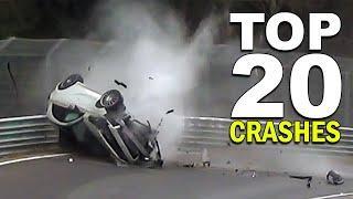 TOP 20 CRASHES NÜRBURGRING - Nordschleife Crash & Fail Compilation Top 20