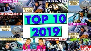 TOP10 Cockpit Videos of 2019 | Pilots at Work