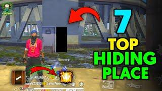 TOP 7 HIDING PLACE IN FREE FIRE | GLOBAL PUSH FAST