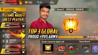 ONLY 6hr !! TamilNadu BEST Player Achieve TOP 3 GLOBAL GRANDMATER / Free Fire Tips And Tricks Tamil