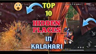 TOP 10 hidden place in Kalahari map 2020  |  for rank push | become grandmaster player | free fire