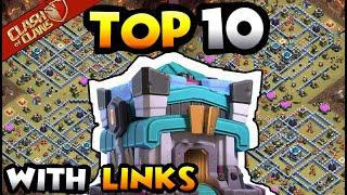NEW TOP 10 TOWN HALL 13 WAR BASES OF 2020 WITH LINKS - COC BEST TH13 BASE WITH LINK - TH13 CWL BASE