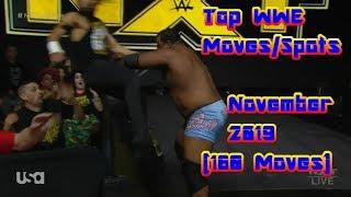 Top WWE Moves/Spots of November 2019 (160 Moves)