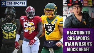 Reaction to CBS Sports Ryan Wilson's Latest Mock Draft
