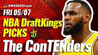 DRAFTKINGS NBA DFS PICKS TODAY | Top 10 ConTENders Fri 5/7 | NBA DFS Simulations