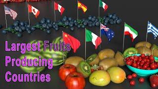 Largest Fruits Producing Countries in the World | Top 5 Fruits Producing Country per Fruits