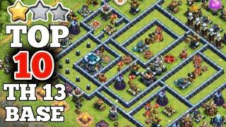 Unbeatable TOP 10 TH13 War Base + Link | ( link included in description ) | Clash Of Clans