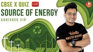 Sources of Energy LIVE MCQ QUIZ |  CBSE Class 10 Physics | Science Chapter 14 | NCERT Vedantu