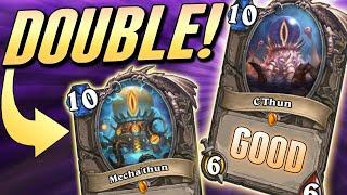 Two C'Thuns because they only expect one   Solem Hearthstone
