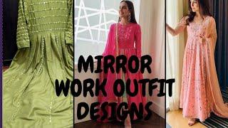 Top 10  Mirror work latest design outfits