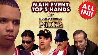 2003 WSOP Main Event - Top 5 Hands | World Series of Poker