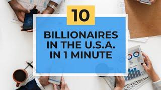 Top 10 Billionaires of the United States of America (2001-2019) in 1 Minute