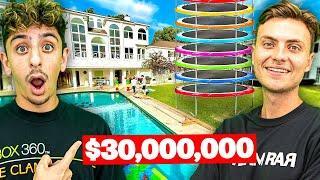 Visiting YouTuber Houses! **backyard amusement park**