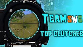 Top 10  || Insane Clutches ||   PUBG Mobile ❤ Team SWG ❤