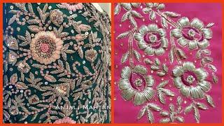 Top10! Very Beautiful Zardosi work Embroidery Designs // New Fancy Embroidery 2020/21 (2)