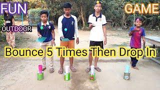 Bounce 5 Times Then Drop In | Indoor Games | Fun Outdoor Games