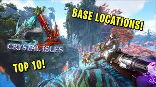ARK: Crystal Isles - TOP 10 FLAT AREAS & BASE LOCATIONS
