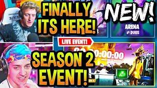 STREAMERS REACT TO *NEW* SEASON 2 LIVE EVENT! (MAP CHANGES & MORE) FORTNITE UPDATE!