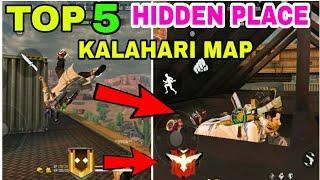 Top 5 hidden/secret place in Kalahari map || Kalahari map hidden place || free fire hidden place
