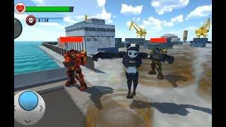 Police Panda Robot Transformation Robot War Ep-2   Rescue City Police Panda Robot Android GamePlay