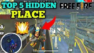 FREE FIRE TOP 5 NEW HIDDEN PLACE || TOP 10 HIDDEN PLACE IN BERMUDA MAP-TODAY GAMING